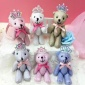 小熊娃娃机礼品 创意可爱精品机礼品皇冠关节熊