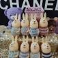 兔子娃娃机礼品 水貂毛尾巴创意胖嘟嘟精品机礼品小兔 带闪灯