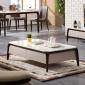 。大理石茶几户型组合北欧储物小电视柜现代简约客厅实木家具套装