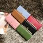 新款纯色女士腕带手拿包时尚韩版长款女式拉链钱包大容量钱夹批发